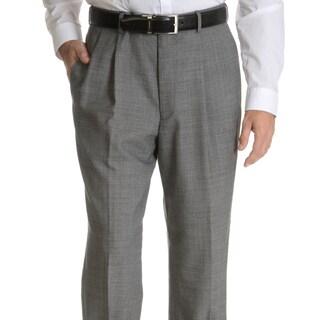 Palm Beach Men's Black Wool Performance Pleated Suit Separates Suit Pant