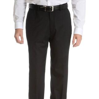 Palm Beach Men's Black Wool Performance Suit Separates Suit Pant