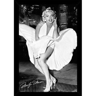 Marilyn Monroe New York Dress Print (24-inch x 36-inch) with Contemporary Poster Frame