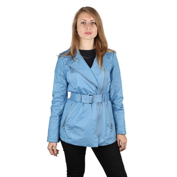 Michael Michael Kors Women's Light Blue Rain Jacket