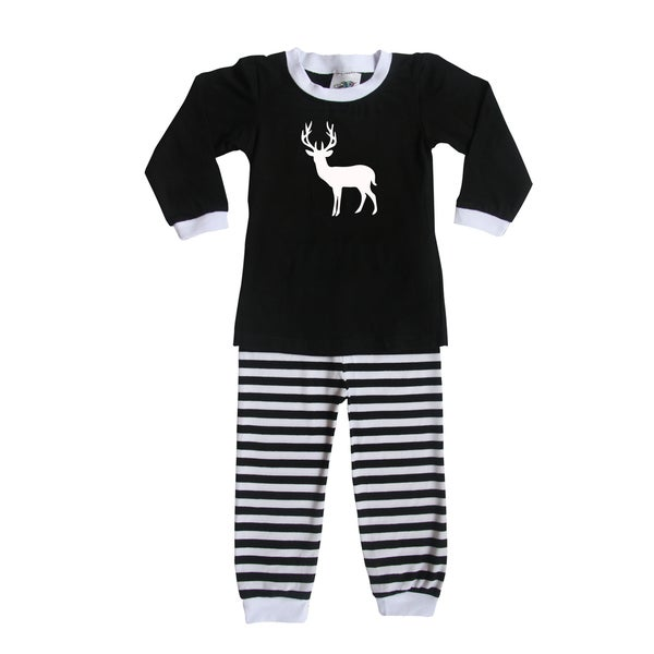 Rocket Bug Woodland Deer Pajama Set for Infants and Toddlers