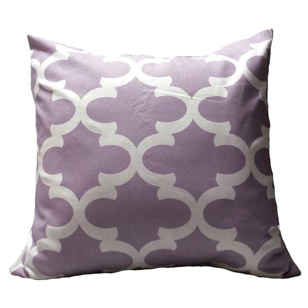 Morrocan Light Purple Pillow Cover
