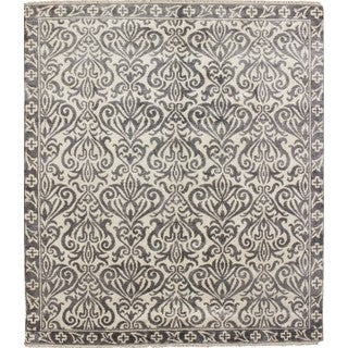 Art Silk Ahriman Ivory Hand-knotted Rug (8' x 9'8)