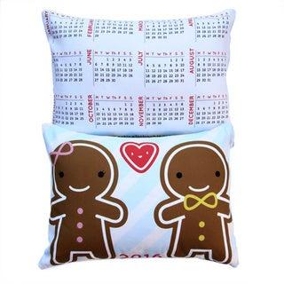 Artisan Pillows Holiday Gift Ginger Bread Man 2016 Calendar Lumbar Throw Pillow