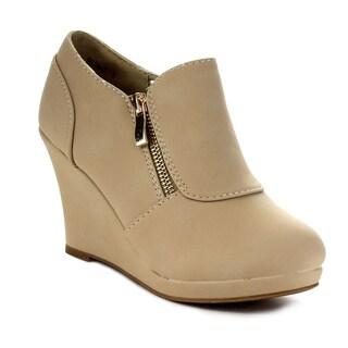 Beston CB37 Women's Platform Wedge Ankle Booties