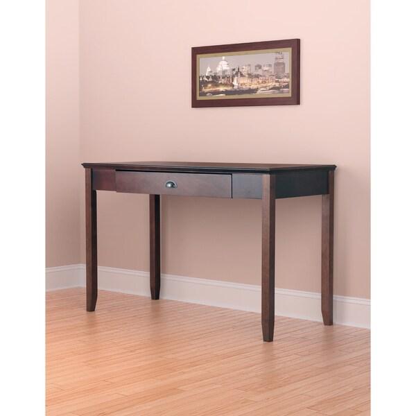 Sheridan Walnut Finish Wood Desk 17878741 Overstock