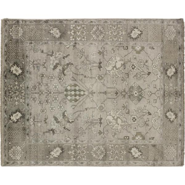 Art Silk Lbaby Grey Hand-knotted Rug (8' x 10'3)