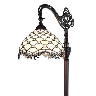 Amora Lighting AM122FL12 Tiffany Style Jeweled Reading Floor Lamp