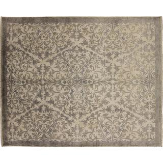Art Silk Valentina Ivory Hand-knotted Rug (8' x 10')