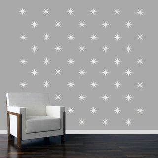 Retro Starbursts Wall Decals Set