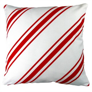 Artisan Pillows 17-inch Christmas Candy Cane Stripes Red Holiday Throw Pillow