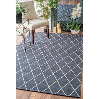 nuLOOM Modern Diamond Lattice Navy Rug (7'6 x 9'6)