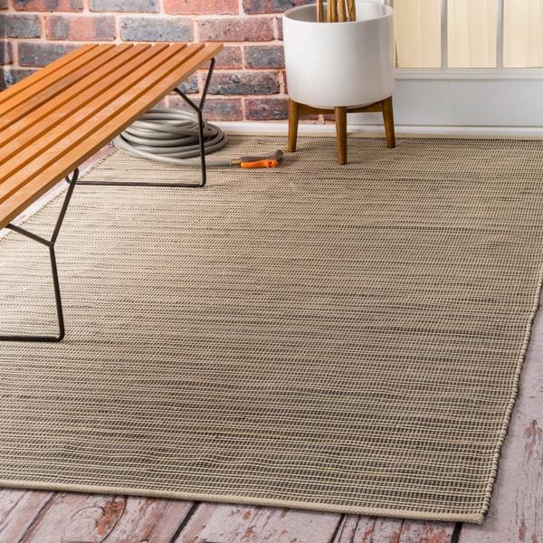 Checkered Outdoor Rug: NuLOOM Flatweave Checkered Indoor/ Outdoor Patio Beige