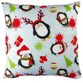 Artisan Pillows 17-inch Christmas Penguins Indoor Holiday Throw Pillow