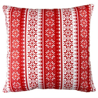 Artisan Pillows 17-inch Christmas Stars Stripes Red Indoor Holiday Throw Pillow