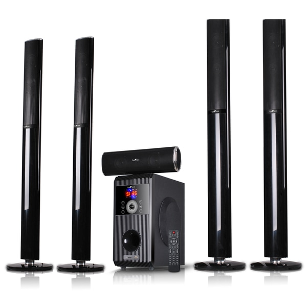 beFree Sound 5.1 Channel Bluetooth Speaker System-Sound Amplifier with USB and SD Slots