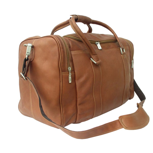 Piel Leather 20-inch Classic Weekend Carry-On Duffel Bag