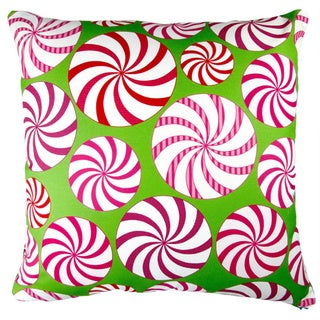 Artisan Pillows 17-inch Christmas Field of Peppermint Candy Indoor Holiday Throw Pillow