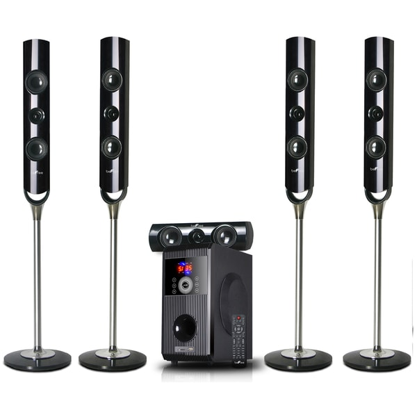 beFree Sound 5.1 Channel Bluetooth Speaker System-Stand Alone with USB and SD Slots