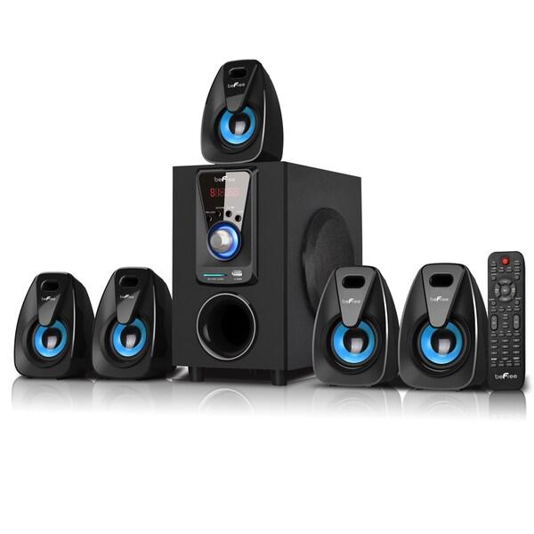 beFree Sound 5.1 Channel Bluetooth Speaker System -Blue