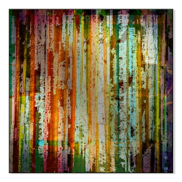 grunge abstract graphic design background with stripes Print on Mounted Metal Wall Art