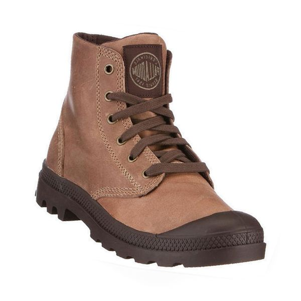 Palladium Men's Pampa Hi Lea Walnut Boots