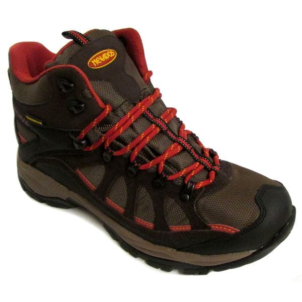 Nevados Men's Fissure WP Mid Dark Brown/ Black/ Red Boots