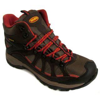 Nevados Men's Fissure WP Mid Dark Brown/ Black/ Red Boots
