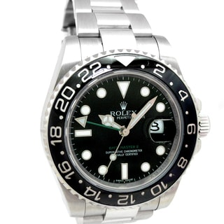 Pre-Owned Stainless Steel Rolex GMT-Master II