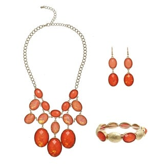 Alexa Starr Oval Opal Faceted Bib Jewelry Set