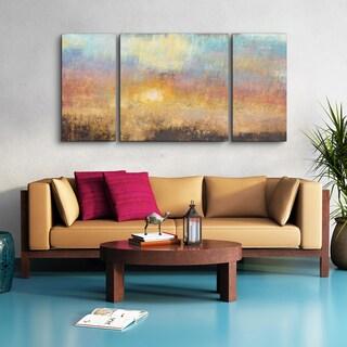Studio 212 'Paradise Sunset' Textured Canvas Wall Art (30 x 60)