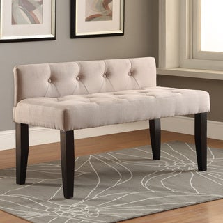 Furniture of America Jazari Modern Linen 42-inch Accent Bench