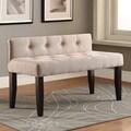 Furniture of America Jazari Modern Linen 42-inch Accent Bench