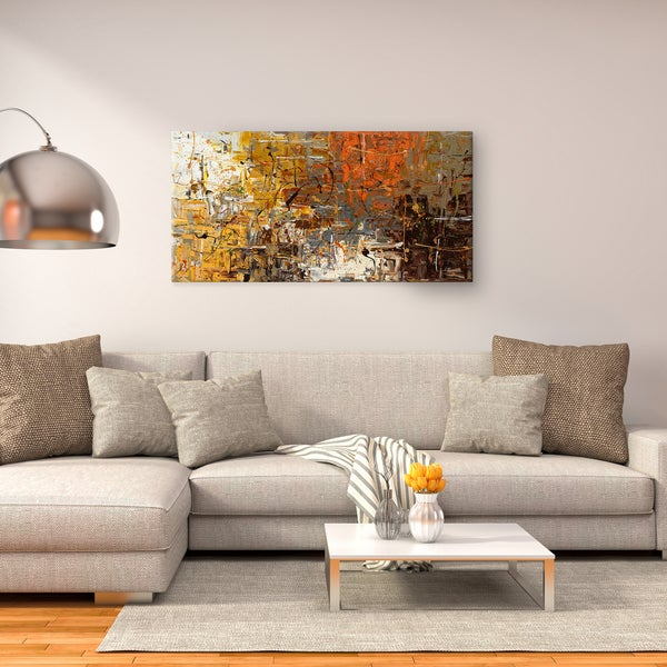 Carmen Guedez 'The More the Merrier' Canvas Wall Art (24 x 48)