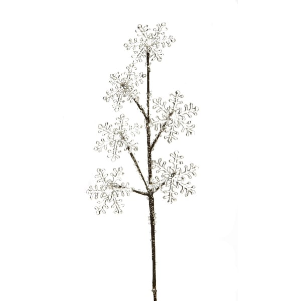 """Snow Drift Collection 21"""" Glitter Snowflake Spray Pack of 12"""