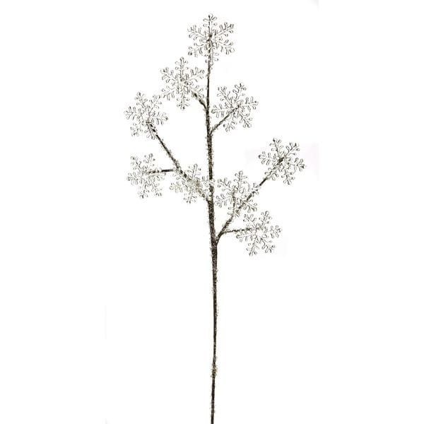 "Snow Drift Collection 4.75"" Glittered Snowflake Spray Pack of 12"