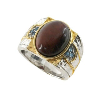 One-of-a-kind Michael Valitutti Tigers Eye Mens Ring