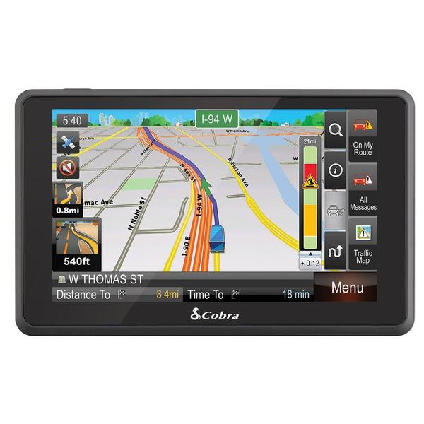 Cobra 6500PROHD 5-Inch Professional Drivers GPS Navigation System (Refurbished)