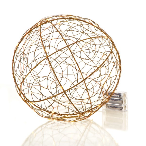 "Urban Earth Collection 10"" Wire Frame Ball with 50 LEDs Pack of 4"