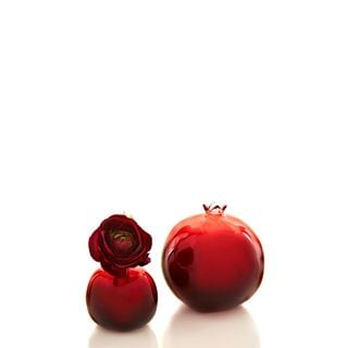 Textures and Patterns Collection Glass Pomegranate Tabletop (2 Styles) Pack of 4