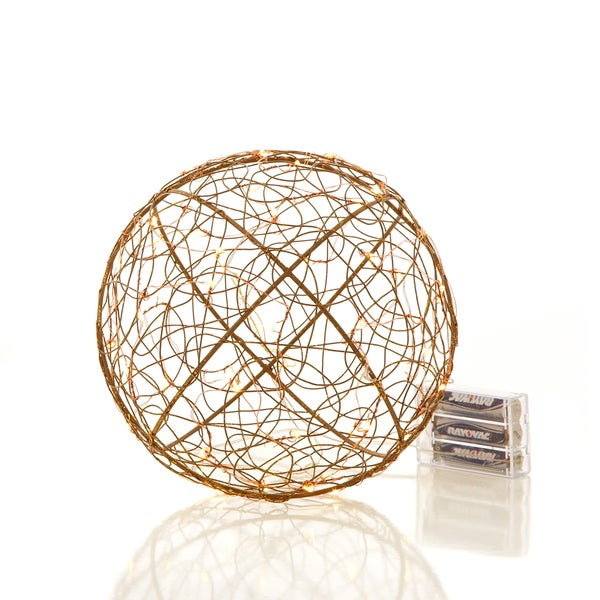 "Urban Earth Collection 8"" Wire Frame Ball with 50 LEDs Pack of 4"