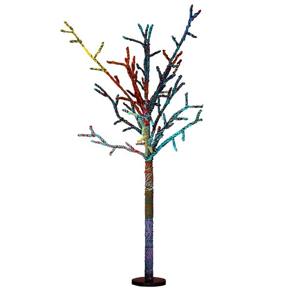 """Bohemian Rhapsody Collection 60"""" Chindi Ornament Tree Pack of 1"""