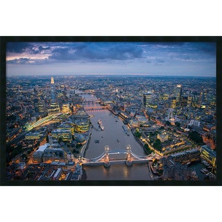 Jason Hawkes 'London' Framed Art Print with Gel Coated Finish 37 x 25-inch