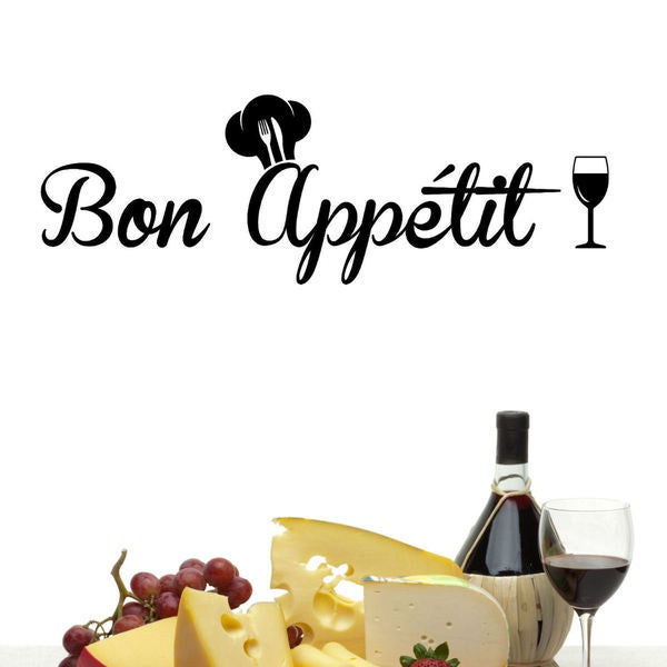 Bon Apptit Vinyl Wall Decal