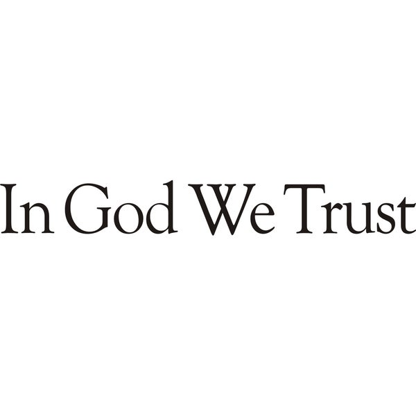 Design on Style 'In God We Trust' Vinyl Wall Art Lettering Decor