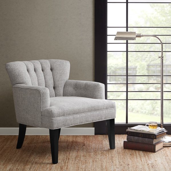Madison Park Gianna Tufted Wide Seat Club Chair--Grey