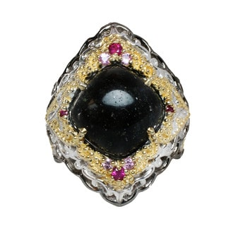 One-of-a-kind Michael Valitutti Black Opal Ring
