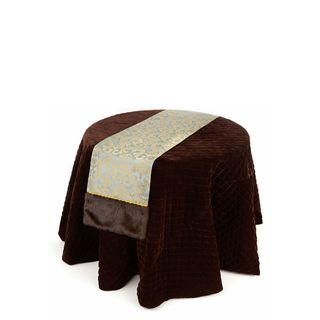 Textures and Patterns Collection 72 x 14-inch Faux Fur and Velvet Table Runner (Pack of 6)