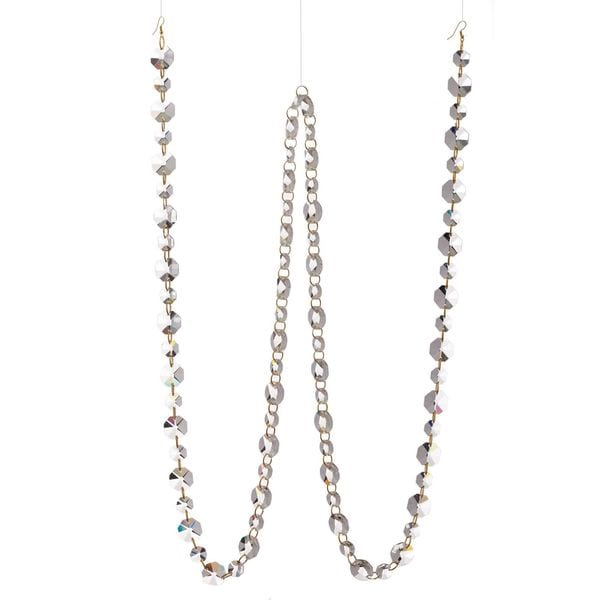 """Vintage Collection 72"""" Crystal Chain Garland Pack of 2"""
