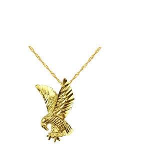 10k Yellow Gold American Eagle Pendant